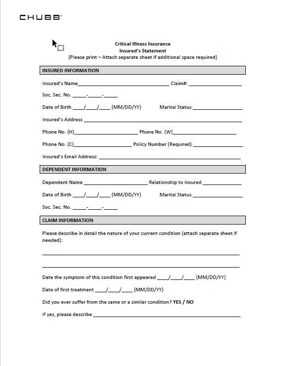 Claim Forms | VFW Auxiliary Insurance Program